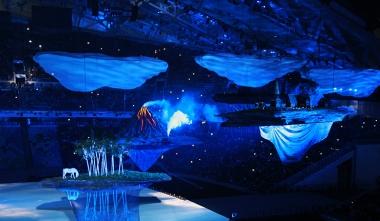 Церемония открытия Олимпиады в Сочи 2014.