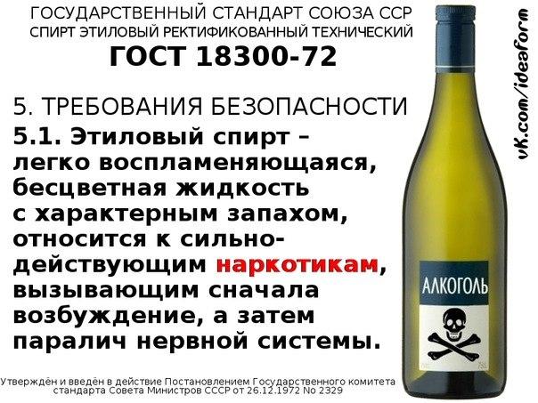 О ГОСТах на алкоголь