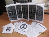 Примеры распечатанных листовок для раздачи